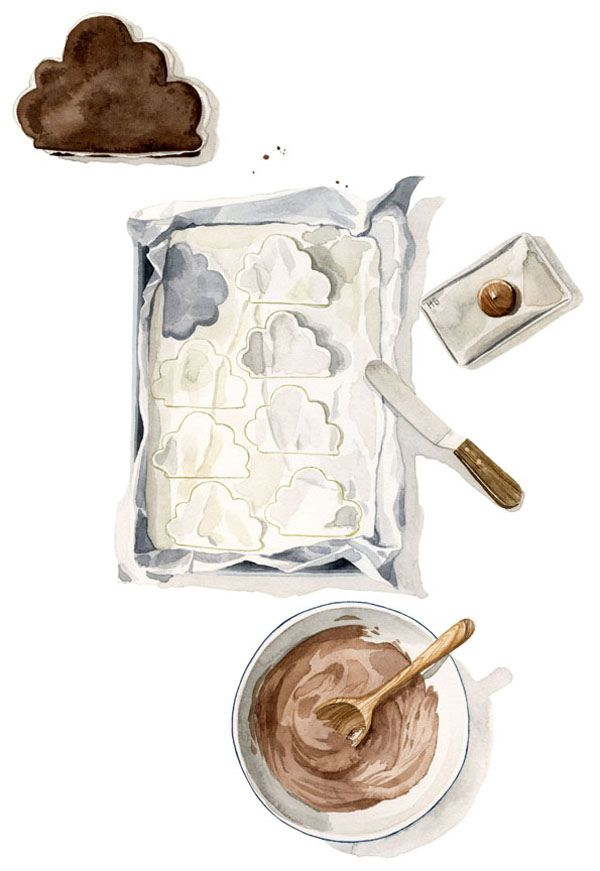 ice cream clouds!: Melinda Josie, Clouds, Cloud Recipes, Cloud Cookies, Cream Cloud, Yummy Icecream, Ice Cream Sandwiches, Illustrations Recipes, Food Illustrations