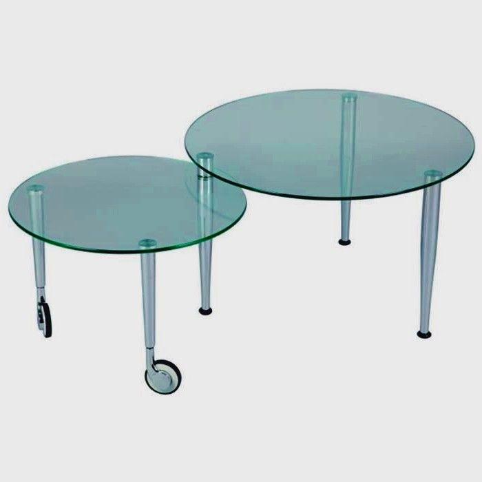 Table Basse Sur Roulettes Ronde Ouverte L 11 En 2020 Table Basse Roulette Table Basse Table En Verre