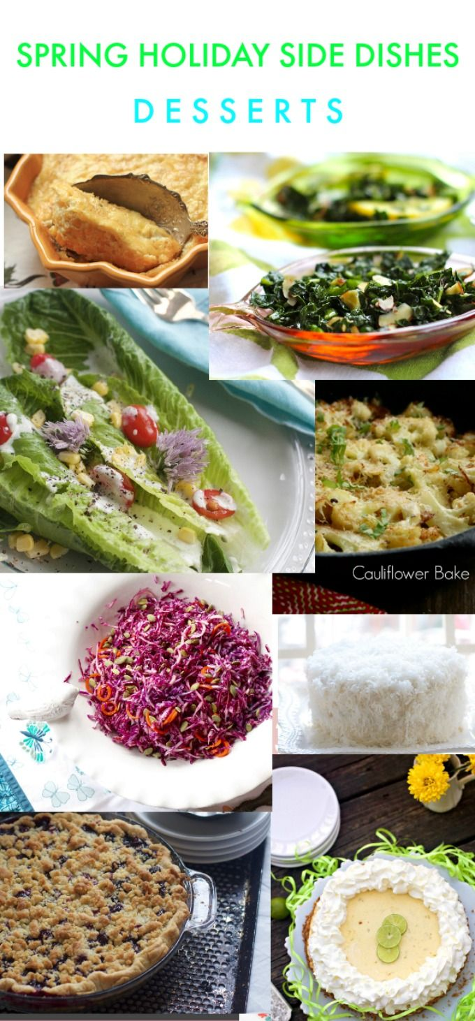 Favorite Spring Holiday Side Dishes and Desserts with Paleo, Gluten and Grain Free Options from Spinach Tiger