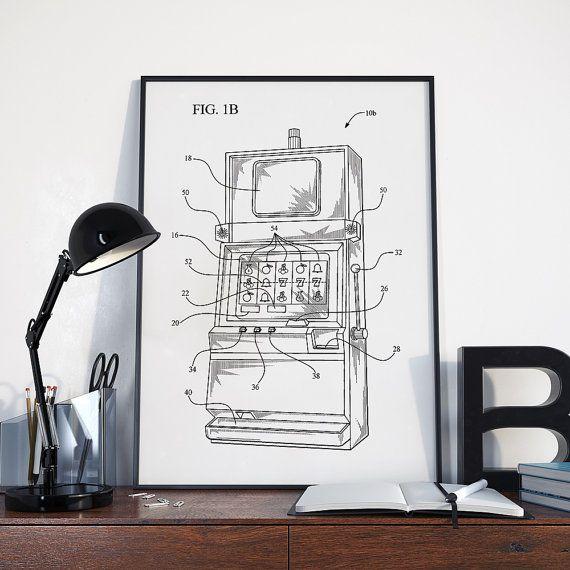 Poker Machine Patent Print Poker Poker Machine Casino by dalumna