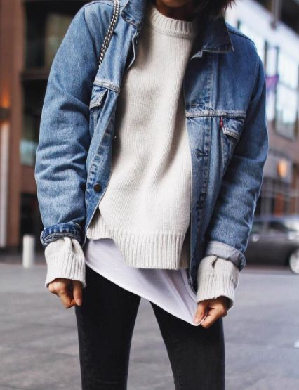 knits + denim