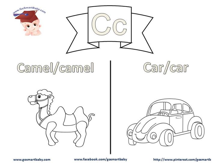 In this worksheet, letter C, a Camel and a Car are two things your child can easily relate to in their life. Help them color each word in uppercase and in lowercase, then enjoy coloring the object itself with the color of their choice.