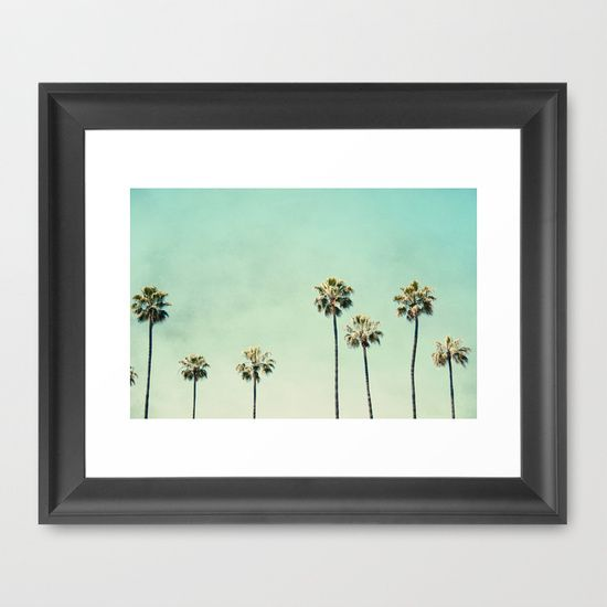 Buy palm trees by bree madden as a high quality framed art for Where to buy framed art
