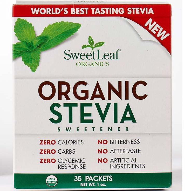SweetLeaf Organic Stevia Sweetener http://www.prevention.com/food/100-cleanest-packaged-food-awards-2016-condiments-spreads-sauces/sweetleaf-organic-stevia