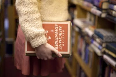 Library Photo shoot using our gorgeous Vintage Jumper, styled & shot by Aisha Green http://madewithlovealg.blogspot.co.uk/