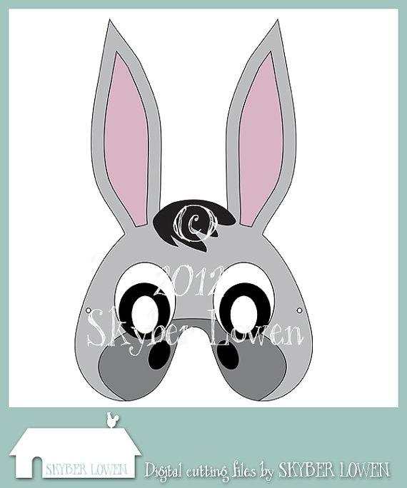 Donkey mask by SkyberLowen on Etsy, $0.99