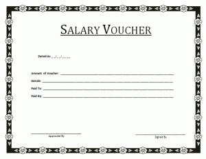 Salary Voucher Template