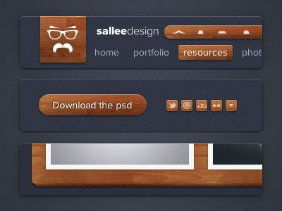 Dribbble - Sallee Design CSS3 elements by Jeremy Sallée ✦✦✦