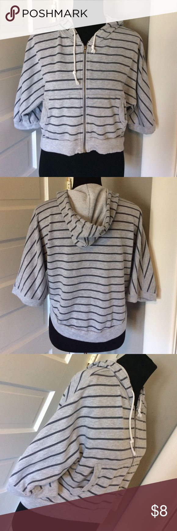 Cropped striped hoodie Soft and comfy. Cotton On Tops Sweatshirts & Hoodies