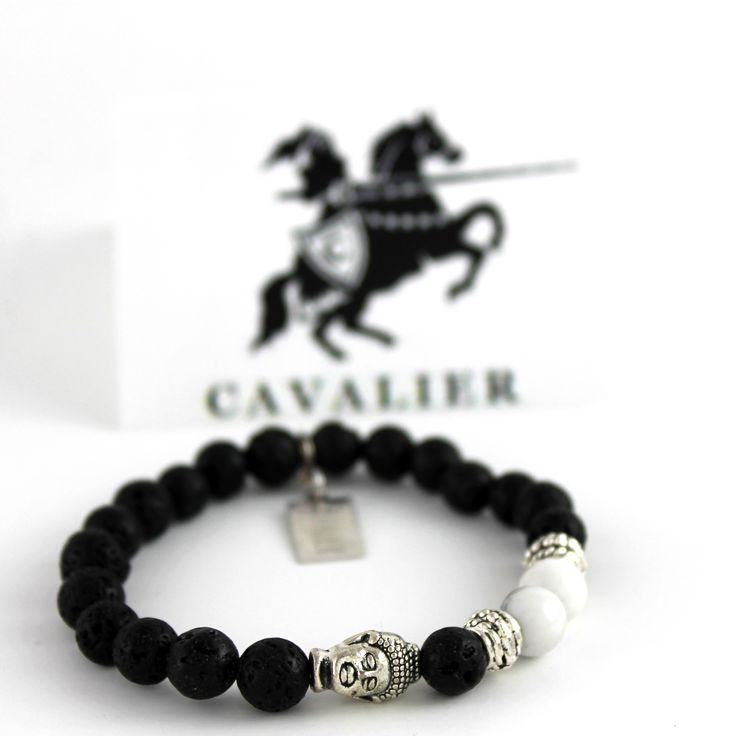 Cavalier Lava Rock, White Howlite & Silver Buddha www.mycavalier.co