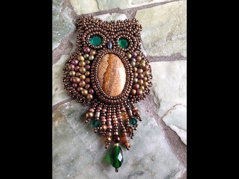 Owl Capone - Part One - Bead Embroidery ~ Seed Bead Tutorials