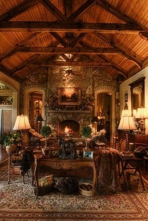 rustic elegance.... the ultimate vacation mountain home! Living Room Ideas: www.IrvineHomeBlog.com Contact