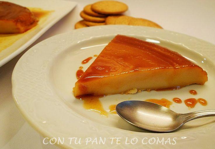 Con tu pan te lo comas: FLAN DE LECHE CONDENSADA Y GALLETAS (Microondas)