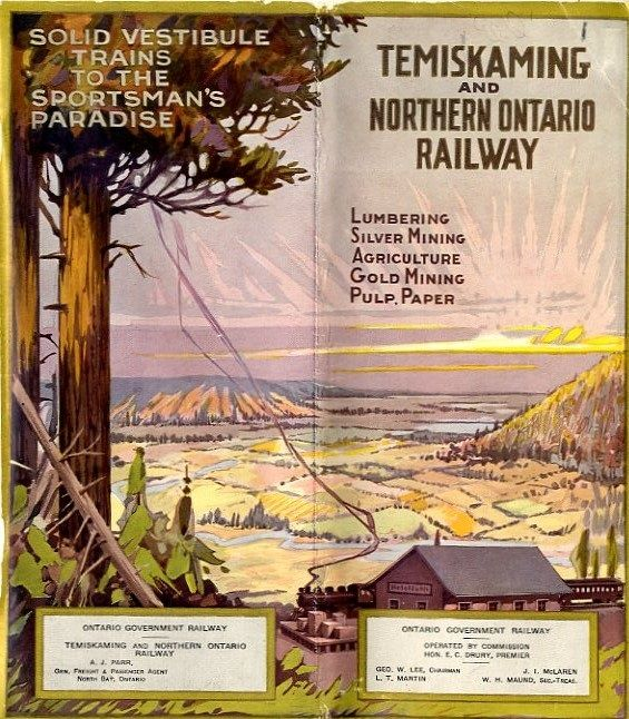 Lumbering, silver mining, agriculture, gold mining, pulp, paper / Temiskaming and Northern Ontario Railway, 1923.