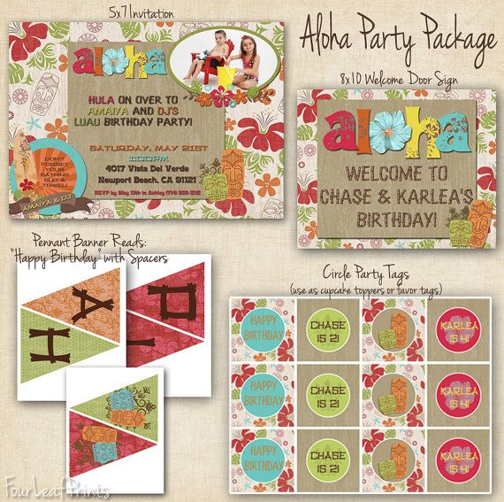 Aloha Hawaiian Luau Party Package