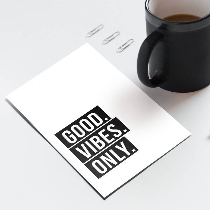 Good Vibes Only - Note Card - Handmade in New Zealand by Bespoke Art