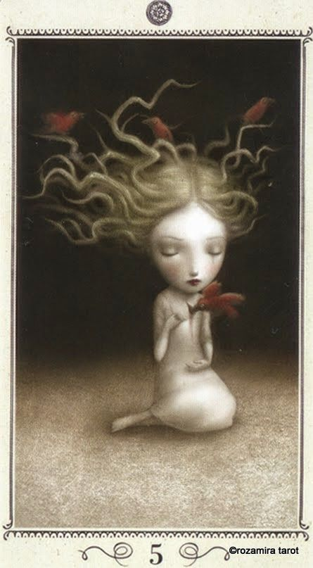Nicoletta ceccoli, five of pentacles