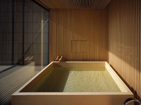 Baño Japones Moderno:Japanese Bath Wood