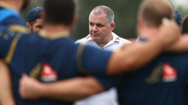 Tough times: Ewen McKenzie gets the Wallabies together in Mendoza before the loss to Argentina. More like a soap opera everyday!