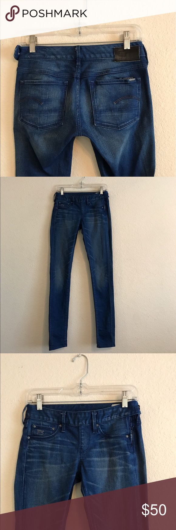 "G-STAR women's ""Super Skinny"" jeans 26 G-Star women's ""Super Skinny"" jeans.  Size: 26.  In excellent condition!  Inseam: 34"" If you have any questions feel free to ask! G-Star Jeans Skinny"