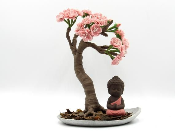 Cherry Blossom Bonsai Silk Tree Cherry Blossom Bonsai Tree Artificial Cherry Blossom Tree Silk Tree