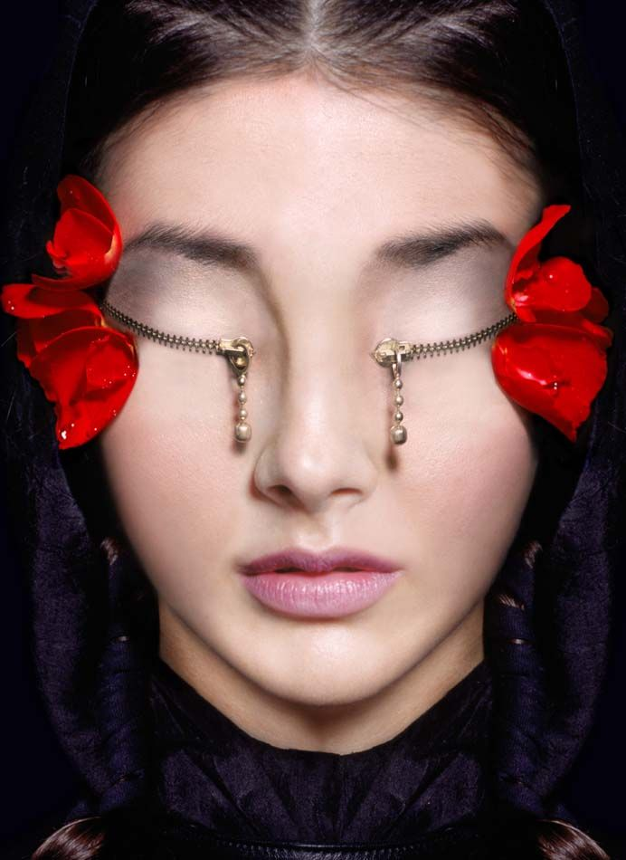 by Marco Bolognesi: Marco Bolognesi, Beauty Makeup, Faces, Mariposa Venenosa, Art Collection, Marcobolognesi, Art Pictures, Zippers Eyes, Makeup Idea