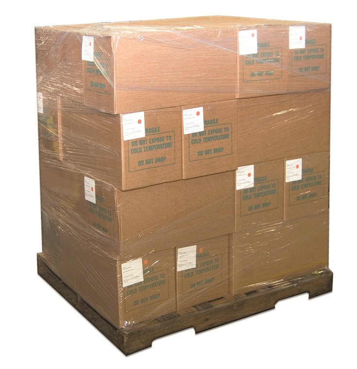 stretch wrap is often used to wrap skidded boxes