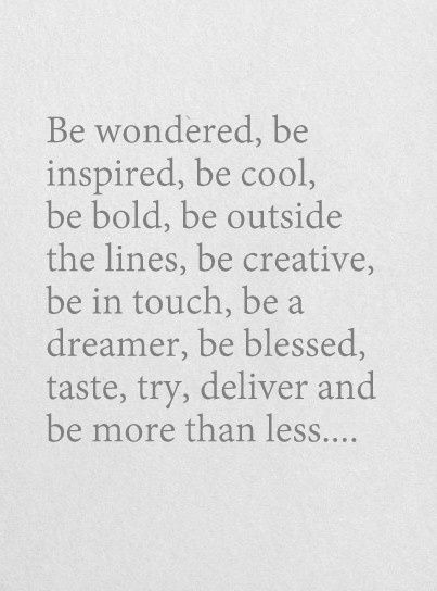 be more than less...