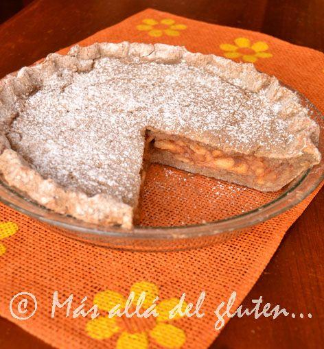 Más allá del gluten...: Pastel de Manzana y Quinua (Receta GFCFSF, Vegana)