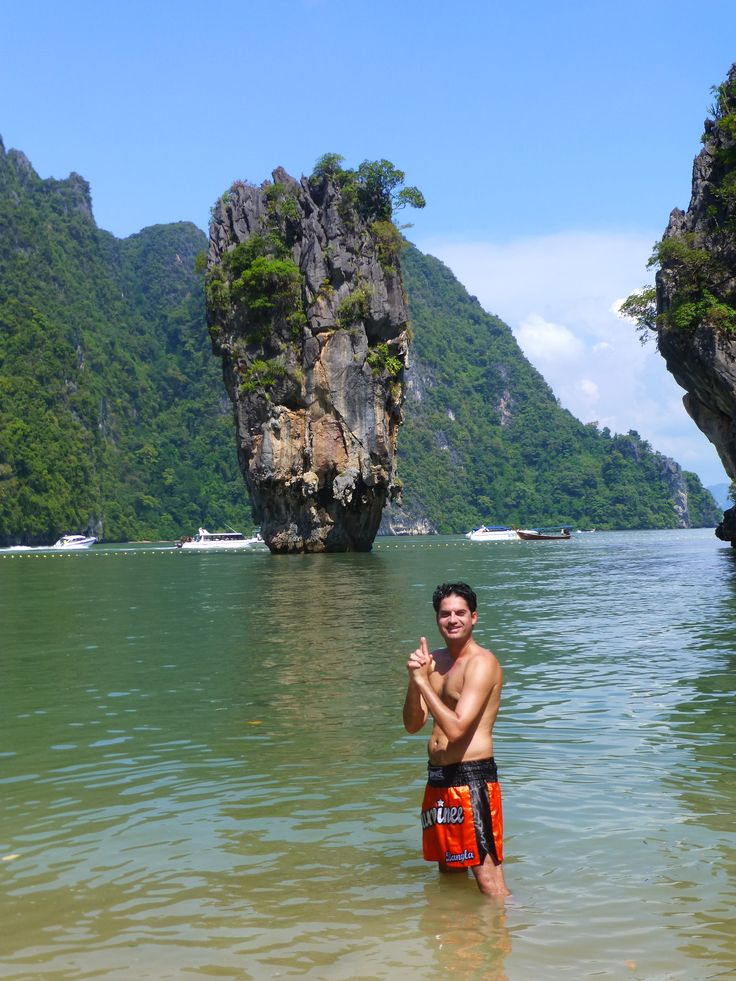 Frédéric Mathieu in James Bond Island- Koh Tapu, Thailand (17/11/2012)