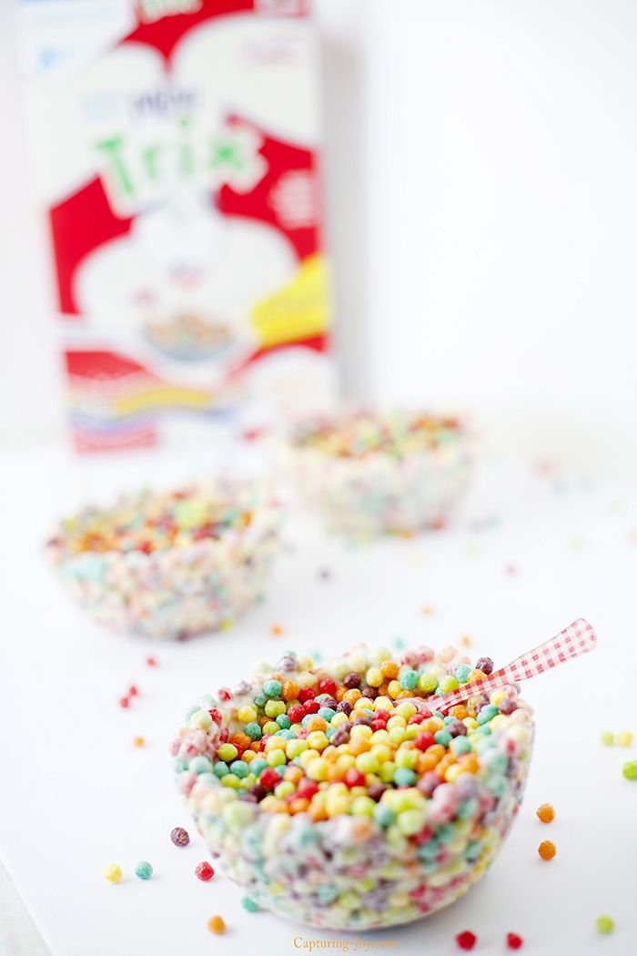 National Cereal Day recipe idea!  Trix cereal bowl your kids can make with you!  Capturing-Joy.com