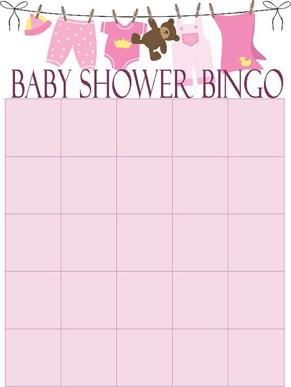 Baby Shower Bingo Card Printable File PDF by ...