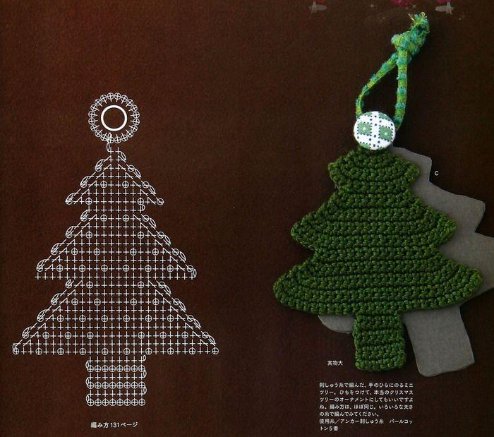 patrones crochet motivos solo de navidad en crochet
