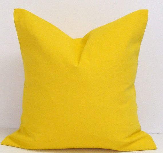 SOLID YELLOW PILLOW16X16 inchDecorator Pillow by ElemenOPillows, $16.00