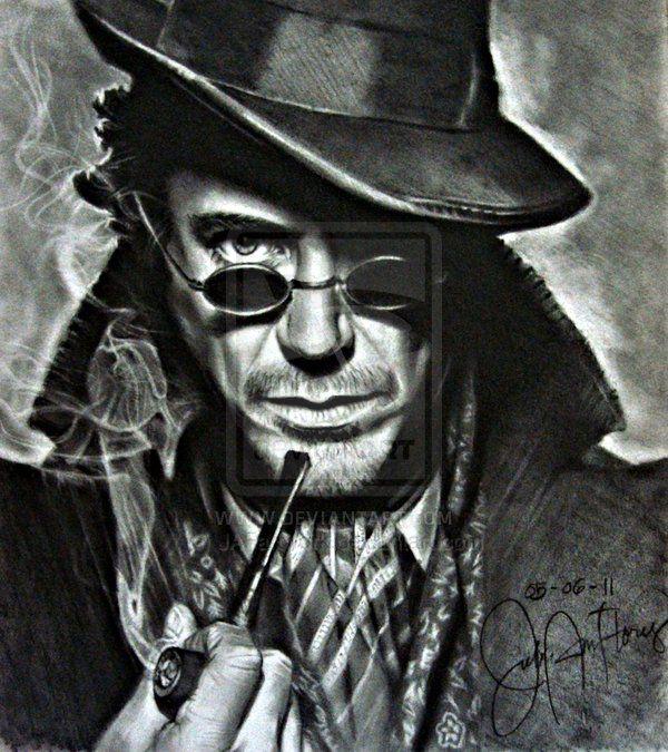 Sherlock Holmes Robert Downey Jr. by JAFartwork.deviantart.com