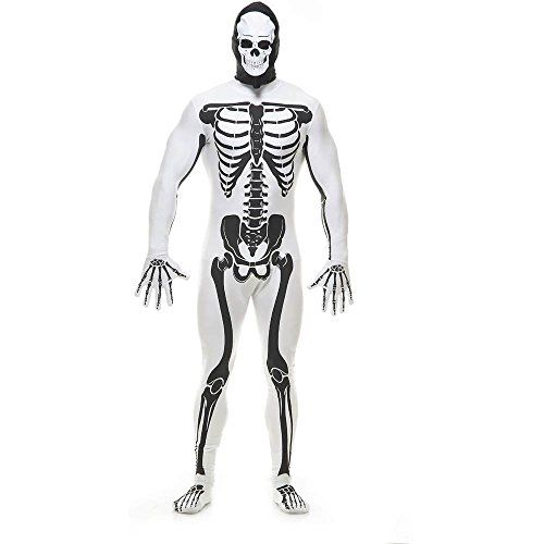 white skeleton bodysuit adult costume click image twice for more info see a larger - Classic Mens Halloween Costumes