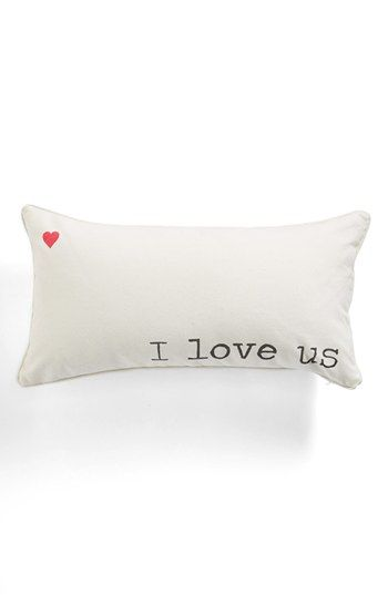 Levtex 'I Love Us' Pillow from Nordstrom... perfect for Valentine's Day!
