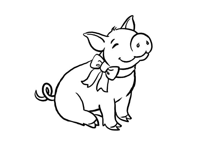 pig coloring pages for preschoolers - photo#28
