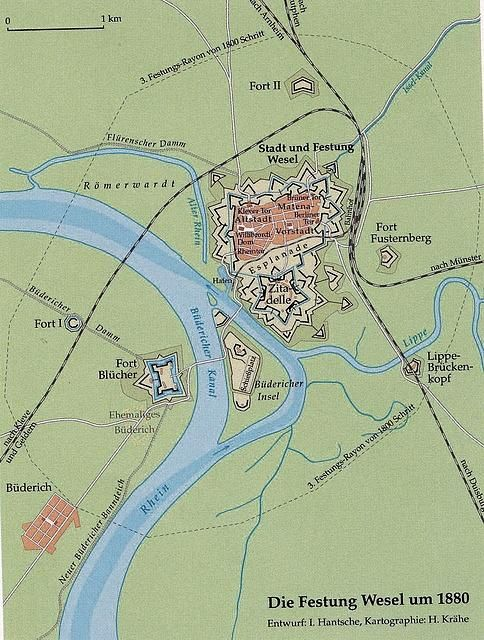 Festung Wesel 1880 – die eingeschnürte Stadt