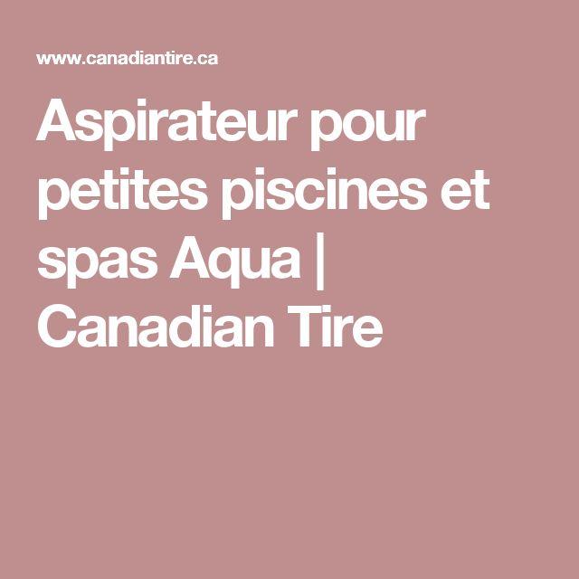 Aspirateur pour petites piscines**27,99$ 2016**Canadian Tire