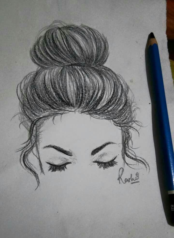 High bun!  #hairillustration #staedtlerpencils #pencilsketching
