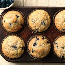 Easy Self-Rising Blueberry Muffins: Easy to make and they come out great! I use 7oz. blueberries and I add the zest of 1 lemon and sprinkle sparkling sugar on top.