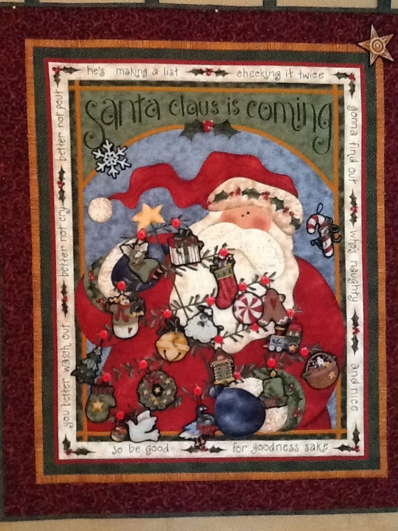 Santa Claus Is Coming A Cute Fabric Panel From Nancy