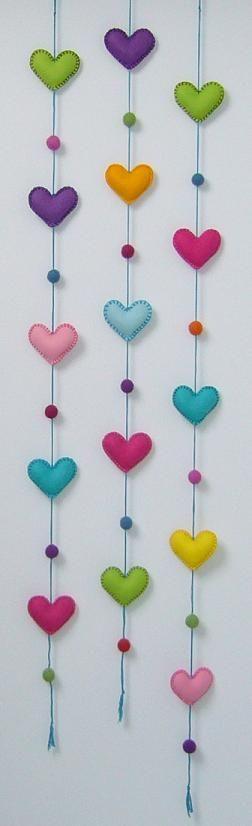 Colgantes de corazones