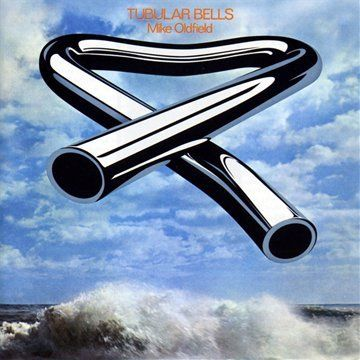 Mike Oldfield: Tubular Bells (25 May 1973)  The cover design was by Trevor Key of Cooke Key Associates (with Brian Cooke)