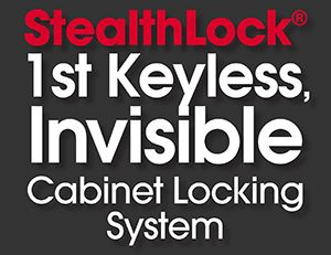 StealthLock 1st Keyless, Invisible Cabinet Locking System to use on a liquor cabinet
