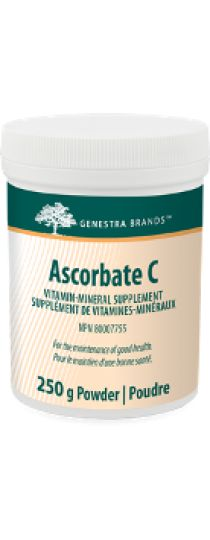 Ascorbate C by Genestra is a great-tasting powder formula, which provides vitamin C from calcium, magnesium and potassium ascorbates, along with minerals to help in the development and maintenance of bones, cartilage, teeth and gums, to help in connective tissue formation and in wound healing and to help maintain proper muscle function.