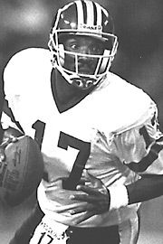 "#17 Doug Williams – Quarterback – (1986-89) Most valuable player of Super Bowl XXII… Posted a 94.0 quarterback rating in 1987… First African-American quarterback to lead a team to a Super Bowl championship… Proudest accomplishments are winning Super Bowl and becoming a high school and college coach back home in Louisiana.  Most admired teammate was Jeff Bostic, ""I remember how he fought through adversity."" Currently, head coach at Grambling University, his alma mater."