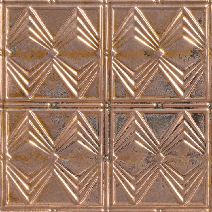 deco diamonds copper ceiling tile