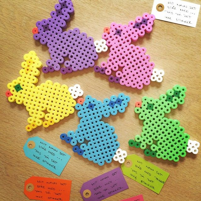 Easter bunnies hama beads by annlouisebrix